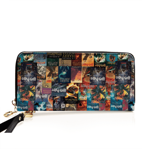"""Harry Potter Books Pattern""Men and Women's PU Leather Wallet around Long Clutch Purse - Gifts For Reading Addicts"