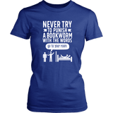 """Punish A Bookworm"" Women's Fitted T-shirt - Gifts For Reading Addicts"