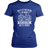 """Just Let Me Read"" Women's Fitted T-shirt - Gifts For Reading Addicts"