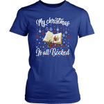 """My Christmas Is All Booked"" Women's Fitted T-shirt - Gifts For Reading Addicts"
