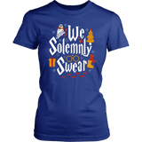 """We Solemnly Swear"" Women's Fitted T-shirt - Gifts For Reading Addicts"
