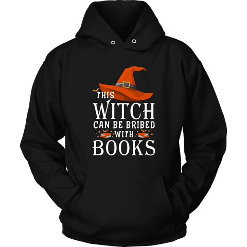 """Bribed With Books"" Hoodie - Gifts For Reading Addicts"