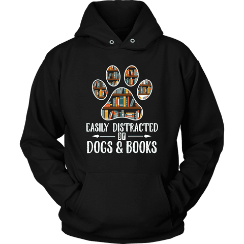 """Dogs and books"" Hoodie - Gifts For Reading Addicts"