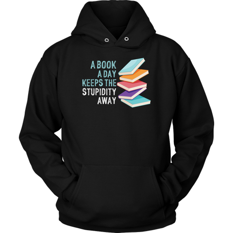 """A Book A Day"" Hoodie - Gifts For Reading Addicts"