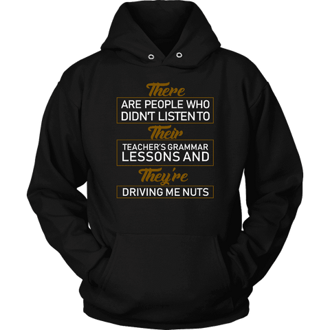 """GRAMMAR"" Hoodie-For Reading Addicts"