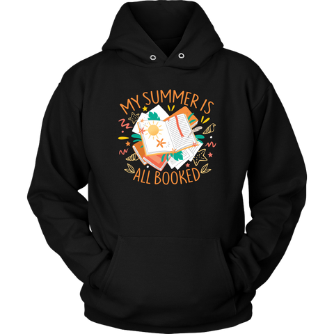 """My Summer Is All Booked"" Hoodie - Gifts For Reading Addicts"