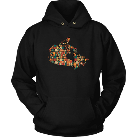 """Canada Bookish Map"" Hoodie - Gifts For Reading Addicts"