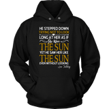 """As if she were the sun"" Hoodie - Gifts For Reading Addicts"