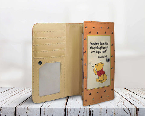 """Winnie The Pooh""Book Cover Womens Wallet - Gifts For Reading Addicts"