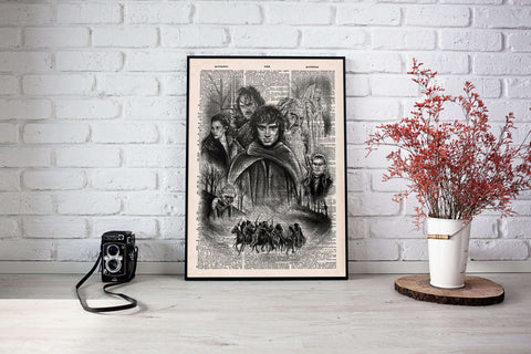Lord of the rings vintage dictionary poster