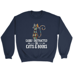 """Cats and books"" Sweatshirt"