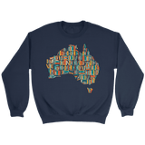 """Australia Bookish Map"" Sweatshirt"