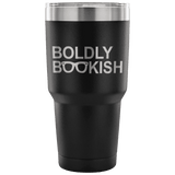 BOLDLY BOOKISH TRAVEL MUG - Gifts For Reading Addicts