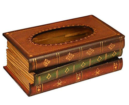 Retro Style Book Shape Tissue Box - Gifts For Reading Addicts