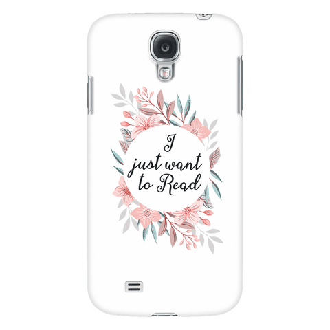 want to read floral phone case white - Gifts For Reading Addicts