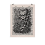 gandalf vintage dictionary poster - Gifts For Reading Addicts
