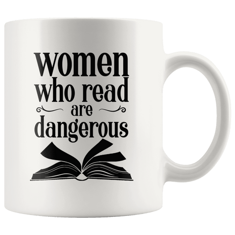 """Women who read""11oz white mug - Gifts For Reading Addicts"