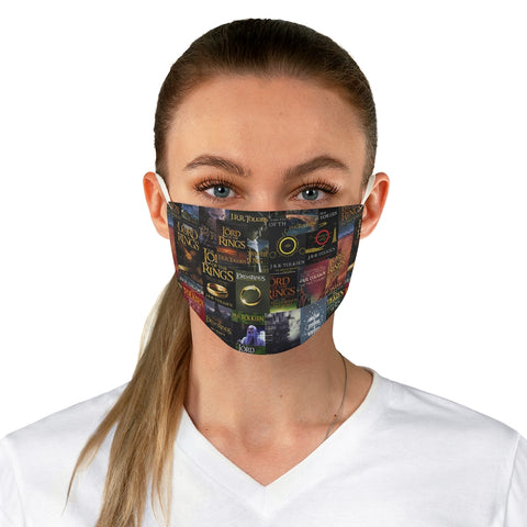 The Lord Of The Rings Book Covers Fabric Face Mask - Gifts For Reading Addicts