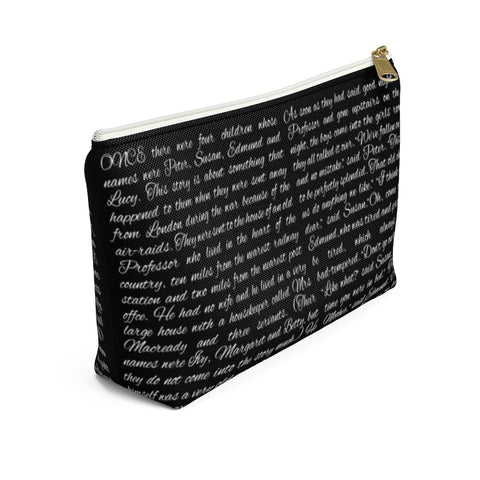 The Lion The Witch And The Wardrobe Book Page Accessory Pouch for book lovers - Gifts For Reading Addicts