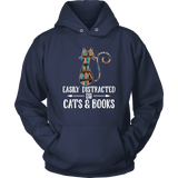 """Cats and books"" Hoodie"