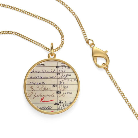 Library Card Single Loop Necklace - Gifts For Reading Addicts