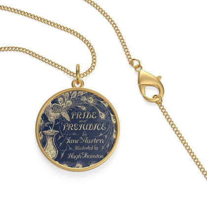 """Pride And Prejudice""Book Cover Single Loop Necklace - Gifts For Reading Addicts"