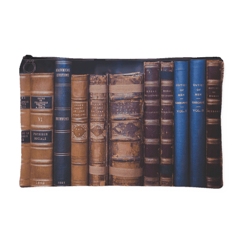 Book Spines Accessory Pouch - For reading addicts - Accessory Pouches - 1