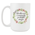 """Portable magic""15oz white mug"