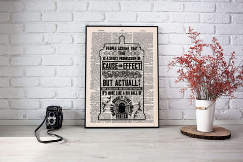 Doctor who vintage dictionary poster - Gifts For Reading Addicts