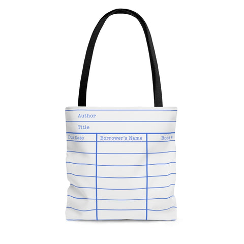 Library Card White Tote Bag - Gifts For Reading Addicts