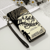 """To Kill A Mocking Bird""Men and Women's PU Leather Wallet around Long Clutch Purse"