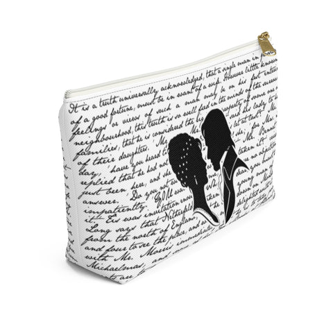 Pride and Prejudice Book Page Accessory Pouch for book lovers - Gifts For Reading Addicts