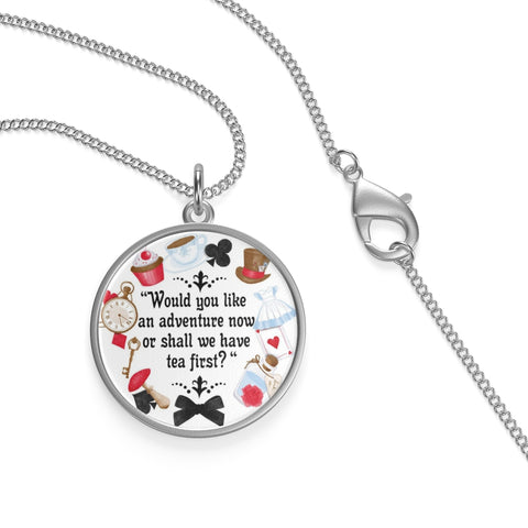 Alice In Wonderland Quote Single Loop Necklace - Gifts For Reading Addicts