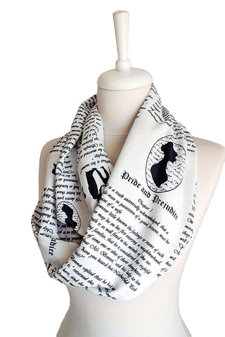 Pride and Prejudice Handmade Infinity Scarf Limited Edition-For Reading Addicts