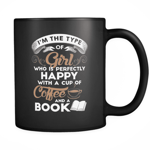 Coffee & Books Black Mug-For Reading Addicts