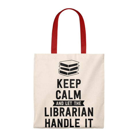 Let The Librarian Handle It Canvas Tote Bag - Vintage style - Gifts For Reading Addicts