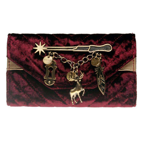 HP WOMENS SPELLS VELVET WALLET - Gifts For Reading Addicts