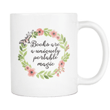 'portable magic'11oz white mug - Gifts For Reading Addicts