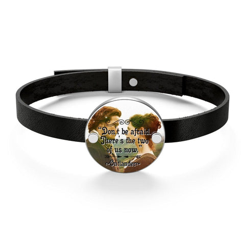 Outlander Quote Leather Bracelet - Gifts For Reading Addicts
