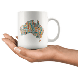 """Australia Bookish Map""11oz White Mug"