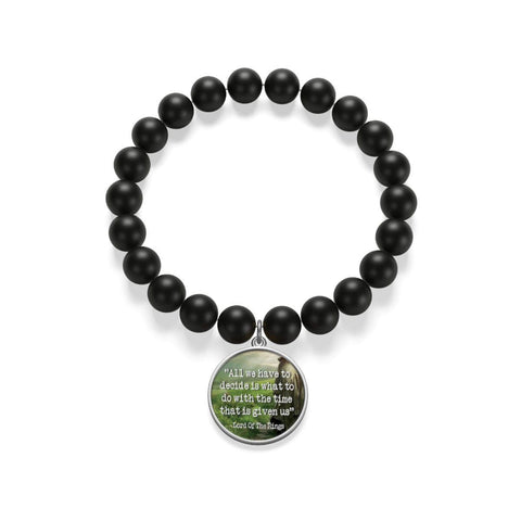 """The Lord Of The Rings""Quote Matte Onyx Bracelet - Gifts For Reading Addicts"