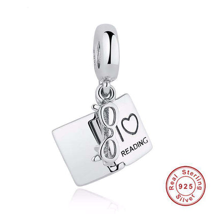 I Love Reading Pandora Compatible Charm 925 silver-For Reading Addicts