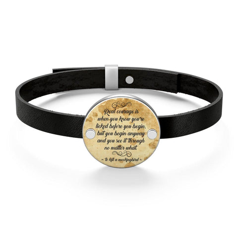 To Kill A Mockingbird Quote Leather Bracelet - Gifts For Reading Addicts