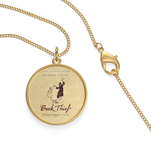 """The Book Thief""Book Cover Single Loop Necklace - Gifts For Reading Addicts"