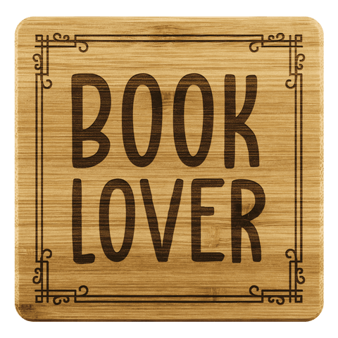 """Book Lover""Bookish Bamboo Coaster - Gifts For Reading Addicts"