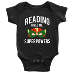 """Reading gives me""BABY BODYSUITS - Gifts For Reading Addicts"