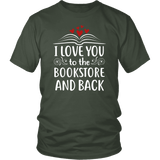 """I love you"" Unisex T-Shirt - Gifts For Reading Addicts"