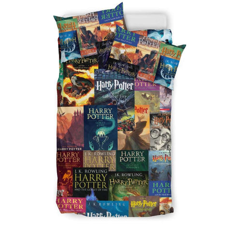 HP Book Cover Pattern Bedding - Gifts For Reading Addicts