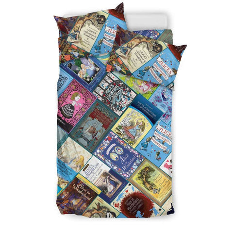 Alice In Wonderland Book Covers Bedding - Gifts For Reading Addicts