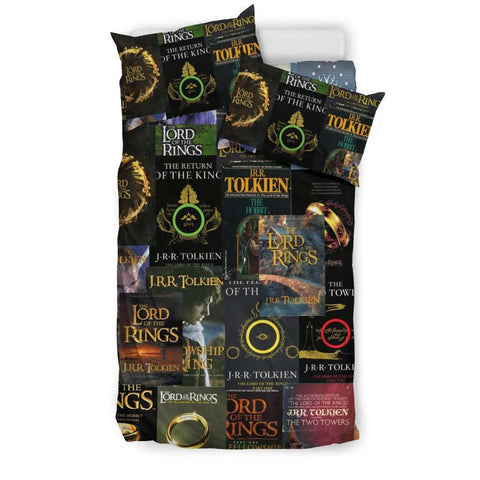 The Lord Of The Rings Book Covers Bedding - Gifts For Reading Addicts